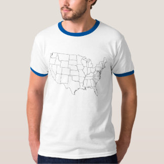 OUTLINE MAP UNITED STATES TEE SHIRT