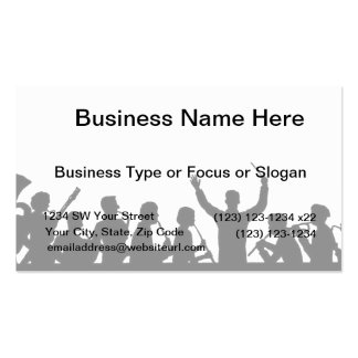 Outline of conductor and band black on white Double-Sided standard business cards (Pack of 100)