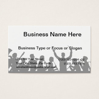 Outline of conductor and band black on white business card