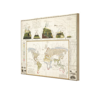 Outline of plant geography canvas print