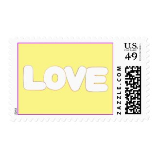 Outline of the word Love in Colors, Postage Stamps