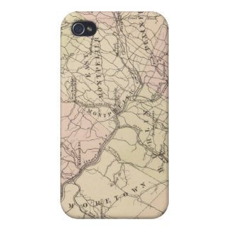 Outline plan of Washington County in Vermont iPhone 4/4S Case