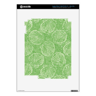 Outline seashells decals for iPad 3