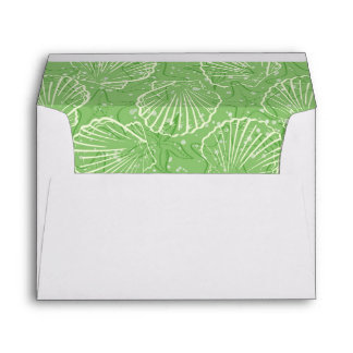 Outline seashells envelope