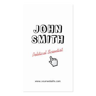 Outline Text Political Scientist Business Card