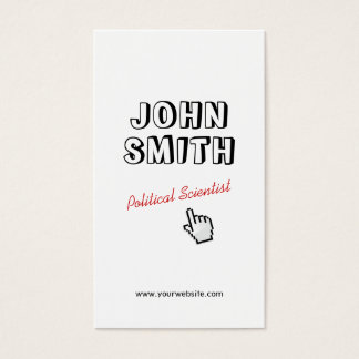 Outline Text Political Scientist Business Card