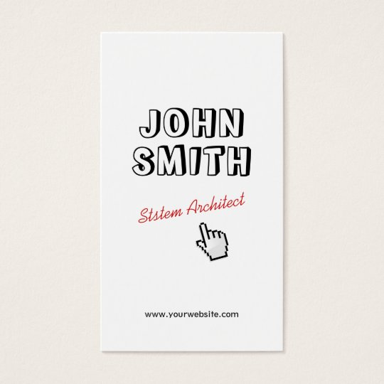Outline Text System Architect Business Card