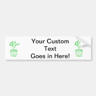 outline tree in pot green.png bumper sticker