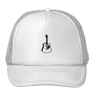 outlined guitar graphic black hats