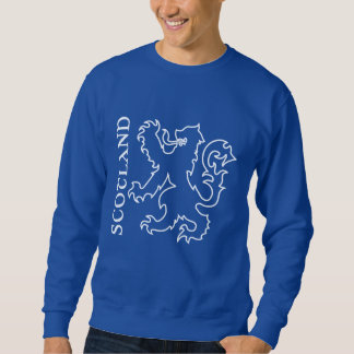 Outlined Heraldic Scotland Lion Rampant Sweatshirt