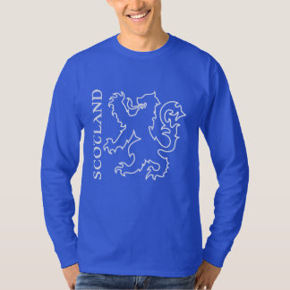 Outlined Heraldic Scotland Lion Rampant T-Shirt