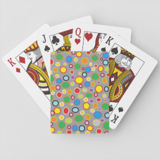 Outlined Polka Dots Playing Cards