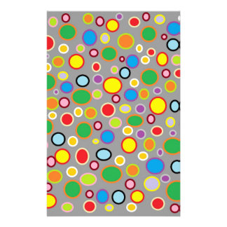 Outlined Polka Dots Stationery