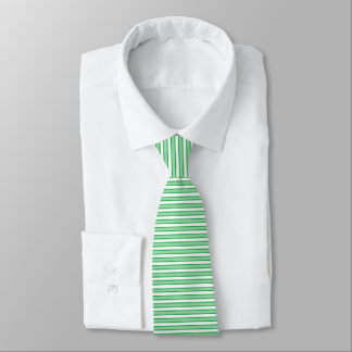 Outlined Stripes Green Tie