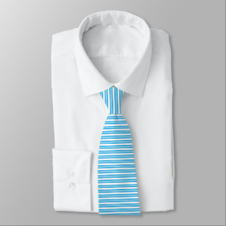 Outlined Stripes Turquoise Neck Tie