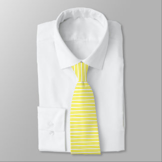 Outlined Stripes Yellow Neck Tie
