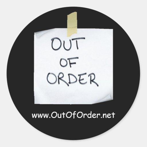 OutOfOrder.net sticker - Customized