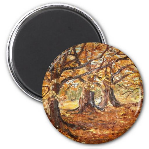Outono (vendido) imán redondo 5 cm