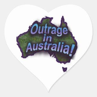 Outrage in Australia! Heart Sticker