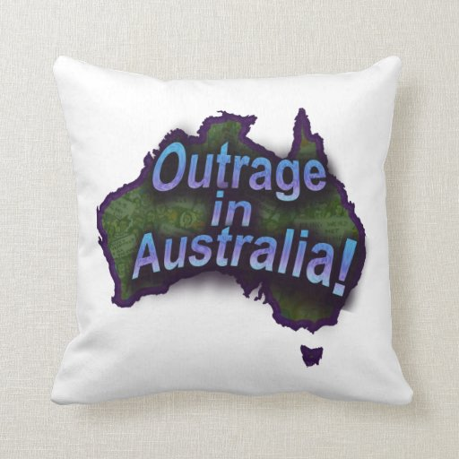 Outrage in Australia! Pillow-fight-protest