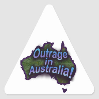 Outrage in Australia! Triangle Sticker