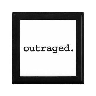 outraged. keepsake box