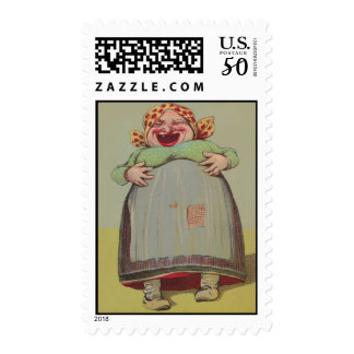 Outrageous Bill Pay Fun Laughing Lady Stamps Stamp