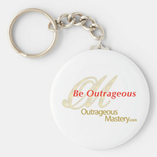 Outrageous Mastery .Com Basic Round Button Keychain