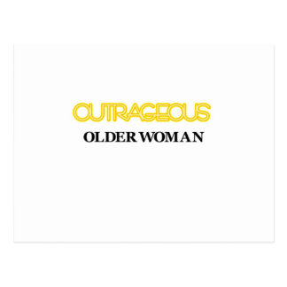 Outrageous Older Woman Postcard