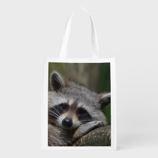 Outrageously Cute Baby Raccoon Market Tote