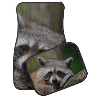 Outrageously Cute Baby Raccoon Floor Mat