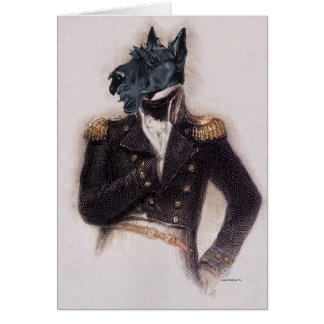 Outrageously Heroic Scottie Greeting Card