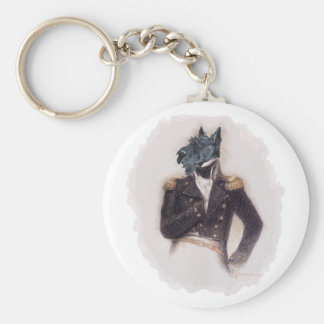 Outrageously Heroic Scottish Terrier Basic Round Button Keychain