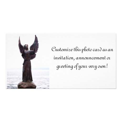 Outreach del ángel tarjeta con foto personalizada