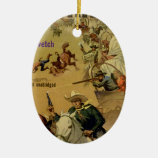 Outriders Double-Sided Oval Ceramic Christmas Ornament