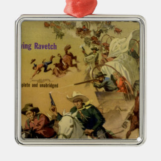 Outriders Square Metal Christmas Ornament