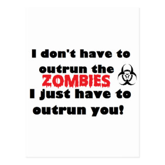 Outrun Zombies Postcard