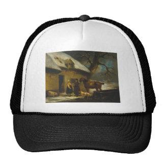Outside an Inn, Winter by George Morland Trucker Hat
