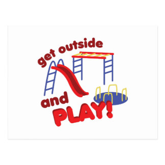 Outside And Play Postcard
