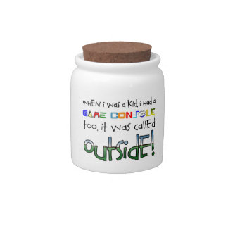 """Outside"" Candy Jar"