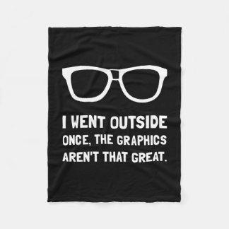 Outside Graphics Not Great Fleece Blanket