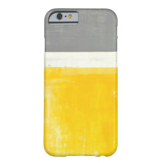 'Outside' Grey and Yellow Abstract Art Barely There iPhone 6 Case