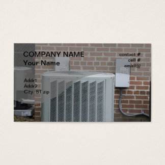 outside heat pump business card