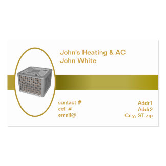 outside heat pump business card template