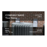 outside heat pump business card