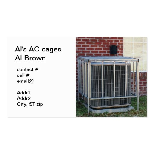 outside heat pump security cage Double-Sided standard business cards (Pack of 100)