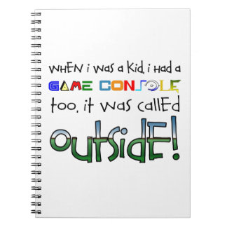"""""""Outside"""" Spiral Note Book"""
