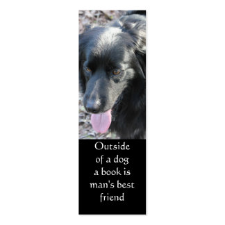 Outside of a dog bookmark Double-Sided mini business cards (Pack of 20)
