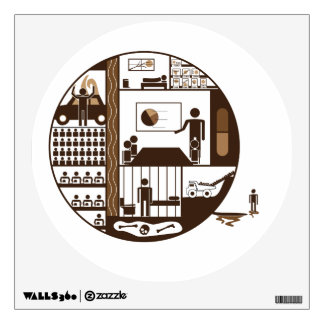 Outside of Society Wall Sticker