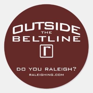 Outside the Beltline Sticker, Small Classic Round Sticker